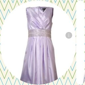 JS Boutique pleated Prom Sequin V-Neck Dress lilac